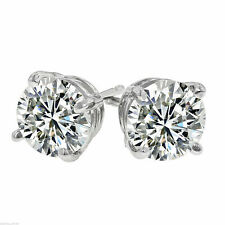 1/4 ct. White Sapphire Stud Earrings ~ 14k White Gold ~ VERY IMPRESSIVE!