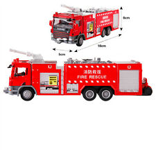 1/50 Scale Diecast Fire Engine Trucks Ladder Rescue Vehicle Metal Model Toys