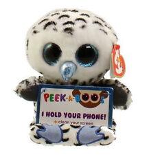 TY Beanie Boos Peek A Boos 5 inch OMAR the Owl Phone Holder w/ Cleaner MWMT's