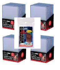 (100 / 4 Packs) Ultra Pro Super Thick 75pt Toploader Card Holders + Sleeves