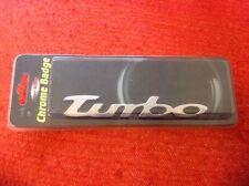 Plastic TURBO Car Badge finished in metal chrome 13.5cm Ford BMW AUDI Peugeot