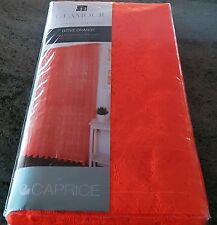 1 PAIR GLAMOUR HOME GENIE FLURO ORANGE ROD POCKET CURTAINS 2 X 140CM X 213CM
