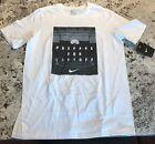 NWT Nike Athletic Cut Short Sleeve Graphic Tee Shirt Cotton Blend WHITE Boys XL