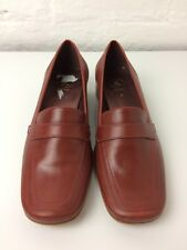 K Clarkes Ladies Shoes Felora Red/Tan  Leather Upper UK Size 4 Brand New