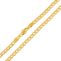 Cool Yellow Gold Filled Mens 23-24 inches Cuban Link Chain Necklace Jewelry