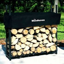 The Woodhaven 1/8 Cord Firewood Rack Inside/Outside Heavy Duty Slides Together