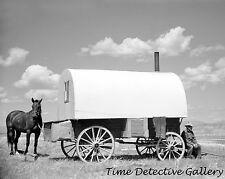 Sheepherder & Chuck Wagon, Madison County, Montana - 1939 - Historic Photo Print