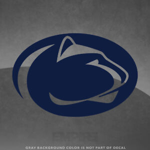 """Penn State Nittany Lions Logo Vinyl Decal Sticker - 4"""" and Up - More Colors!"""