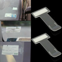 2PCS/SET Car Vehicle Windscreen Park Parking Ticket Clip Work Pass Holder Gadget