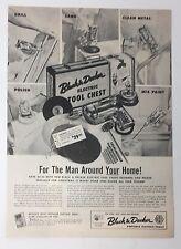 Magazine Print Magazine Ad 1954 BLACK & DECKER for Man Around Home Tool Chest