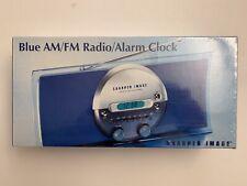 New Sharper Image Blue Am/Fm Radio & Alarm Clock