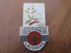 COCA-COLA Pin World Olympics Collectors Fair Lausanne Schweiz 1994 Olympia