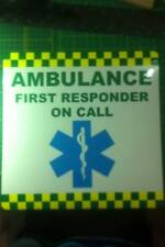 Magnetic sign AMBULANCE FIRST RESPONDER sign vehicle signage emergency