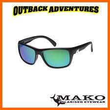 MAKO SUNGLASSES APEX MATT BLACK FRAME ROSE GREEN MIRROR GLASS LENS M01-G2H5