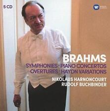 Buchbinder Harnoncourt - Brahms: Symphonies, Overtures; Haydn: Variati (NEW 5CD)