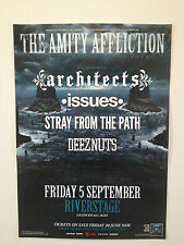 THE AMITY AFFLICTION 2014 Australian Tour Poster A2 **BRISBANE RIVERSTAGE ONLY**