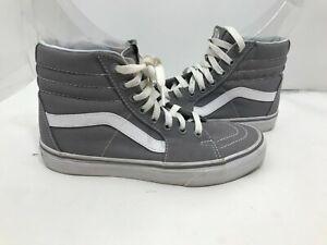 Unisex Vans Sk8-Hi Winter Gray/ White Canvas Skateboard Shoes WO'S 8 - M'S 6.5