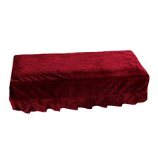 Piano Stool Chair Bench Cover Pleuche Decorated for Home Hotel Red 2-Seater