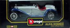 8 BURAGO ALFA ROMEO 2300 SPIDER 1932 GRIS ET BLEU N°3008