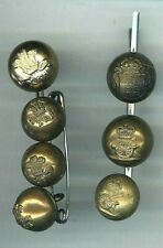 More details for 7 military ball buttons comprising 2 r.a. (1 vict) +1 ord.c. + 4 x royal hussars