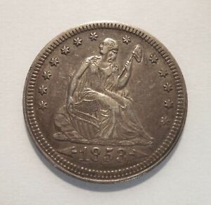 1853 - Seated Liberty Quarter - 25¢ - Silver Coin - Arrows & Rays