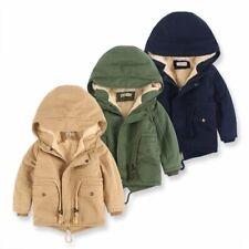Children Winter Fleece Outdoor Jackets Hooded Warm Kids Outerwear Windbreaker