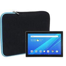 Slabo Tablet Tasche Lenovo Tab4 10 / Plus Hülle Case Neopren TÜRKIS / SCHWARZ
