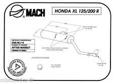 Silencieux de Pot D'echappement MACH HONDA XL 200 R 1983 / XLR 125 RW 1998 -2000