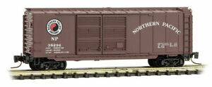 Micro-Trains MTL Z-Scale 40ft DD Box Car Northern Pacific/NP(Brown/White) #38296