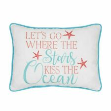 Stars Kiss The Ocean Embroidered Pillow