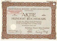 Rastenburger Brauerei AG 1929 Rastenburg /  Ketrzyn
