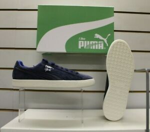 Men's Puma Clyde Normcore Peacoat Blue Suede Retro Fashion Trainers UK 9 EU 43