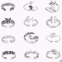 2.5 mm Sterling Silver 925 USA Seller Twist Design Toe Ring Face Height