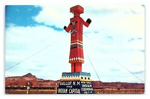 Vintage Postcard Colorful Marker in Gallup New Mexico Highway Route 66 G20