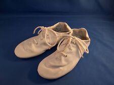 Dance Jazz Shoes White Tie Up Style Split Sole Size 11.5M