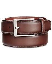 Perry Ellis Men's Big & Tall Portfolio Amigo Leather Dress Belt, Brown, Size 54