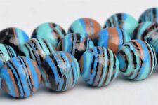 8MM Multicolor Calsilica Grade AAA Round Gemstone Loose Beads 15.5