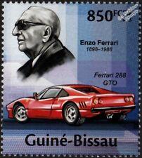 ENZO FERRARI & Ferrari 288 GTO Sports Car Stamp (2013 Guinea-Bissau)
