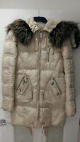 River Island Women Parka Coat Jacket Beige Size 6