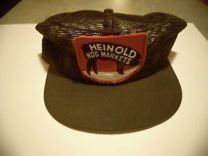 New Vintage Heinold Hog Markets Mesh and Trucker Hat K Brand Snap Back