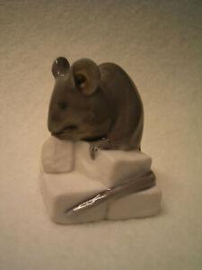 Porzellan Copenhagen: Maus auf Zuckerwürfel - Modell 510 - Design by E. Nielsen