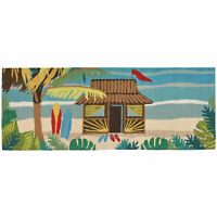 "AREA RUGS - ""TIKI ROOM"" INDOOR OUTDOOR RUG - 24"" x 60"" RUNNER - TROPICAL DECOR"