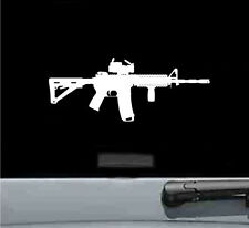 ar15 M4 rifle with sight scope silhouette vinyl decal sticker gun rifle bullet