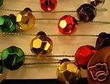Dollhouse Miniature Large Colored Bead Lights 6' Strand