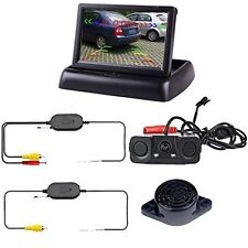 Podofo Wireless Car Backup Camera With 2 Parking Alarm Sensors Radar Detector