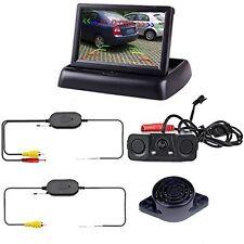 Podofo Wireless Car Backup Camera With 2 Parking Alarm Sensors Radar Detector