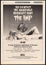 THE IMP__Original 1981 Trade AD promo / horror poster__DENNIS WU__Charlie Chin
