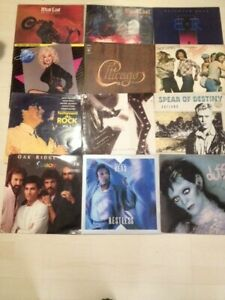 Lot de 34 LP 33 tours Bob Dylan, Santana, Chicago, Elvis, ect...