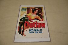 "VINTAGE REPRODUCTION 17 X 11"" MOVIE POSTER - HOWARD HUGHS THE OUTLAW - W/ SLEEVE"