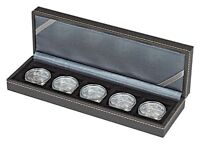 Lindner 2362-5 NERA Münzkassette S mit 5 quadratischen Feldern für Münzen oder K